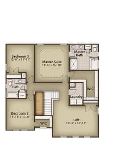 Chesapeake Homes -  The Persimmon Second Floor