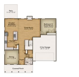 Chesapeake Homes -  The Azalea First Floor