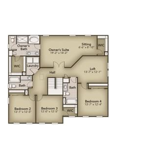 Chesapeake Homes -  The Azalea Second Floor