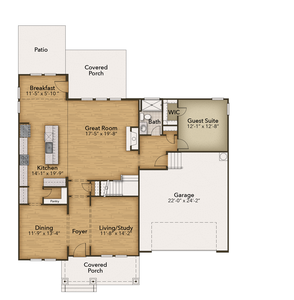 Chesapeake Homes -  The Violet First Floor