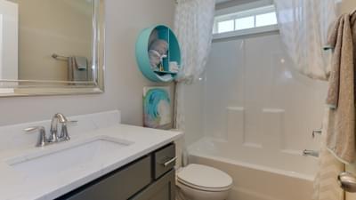 Chesapeake Homes -  The Violet Upstairs Hallway Bathroom