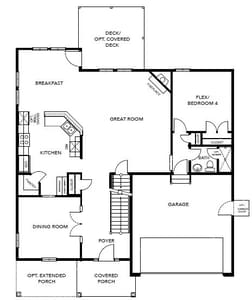 Chesapeake Homes -  The Concerto Basement First Floor