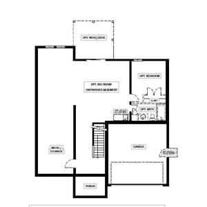 Chesapeake Homes -  The Concerto Basement Basement