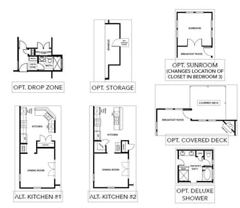 Chesapeake Homes -  The Concerto Basement Options