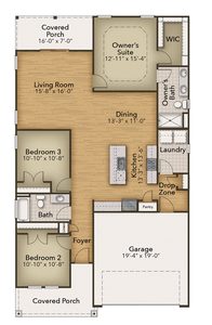 Chesapeake Homes -  The Kiawah First Floor