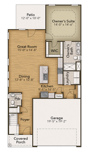 Chesapeake Homes -  The Hibiscus First Floor