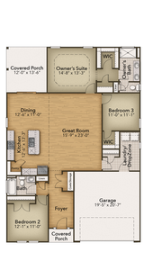 Chesapeake Homes -  The Coastline First Floor