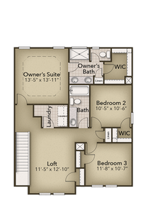Chesapeake Homes -  The Sycamore Second Floor