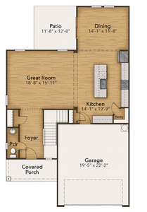 Chesapeake Homes -  The Willow First Floor