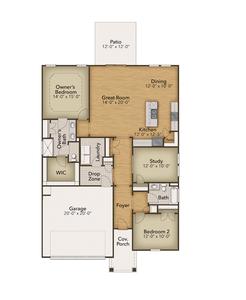 Chesapeake Homes -  The Cherry Grove First Floor