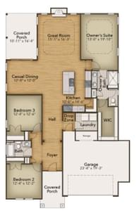 Chesapeake Homes -  297 Ballast Point UNIT 56, Clayton, NC 27520 First Floor