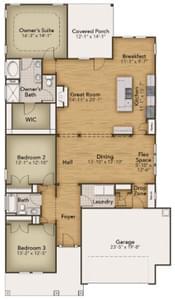 Chesapeake Homes -  17 Ballast Point UNIT 68, Clayton, NC 27520 First Floor