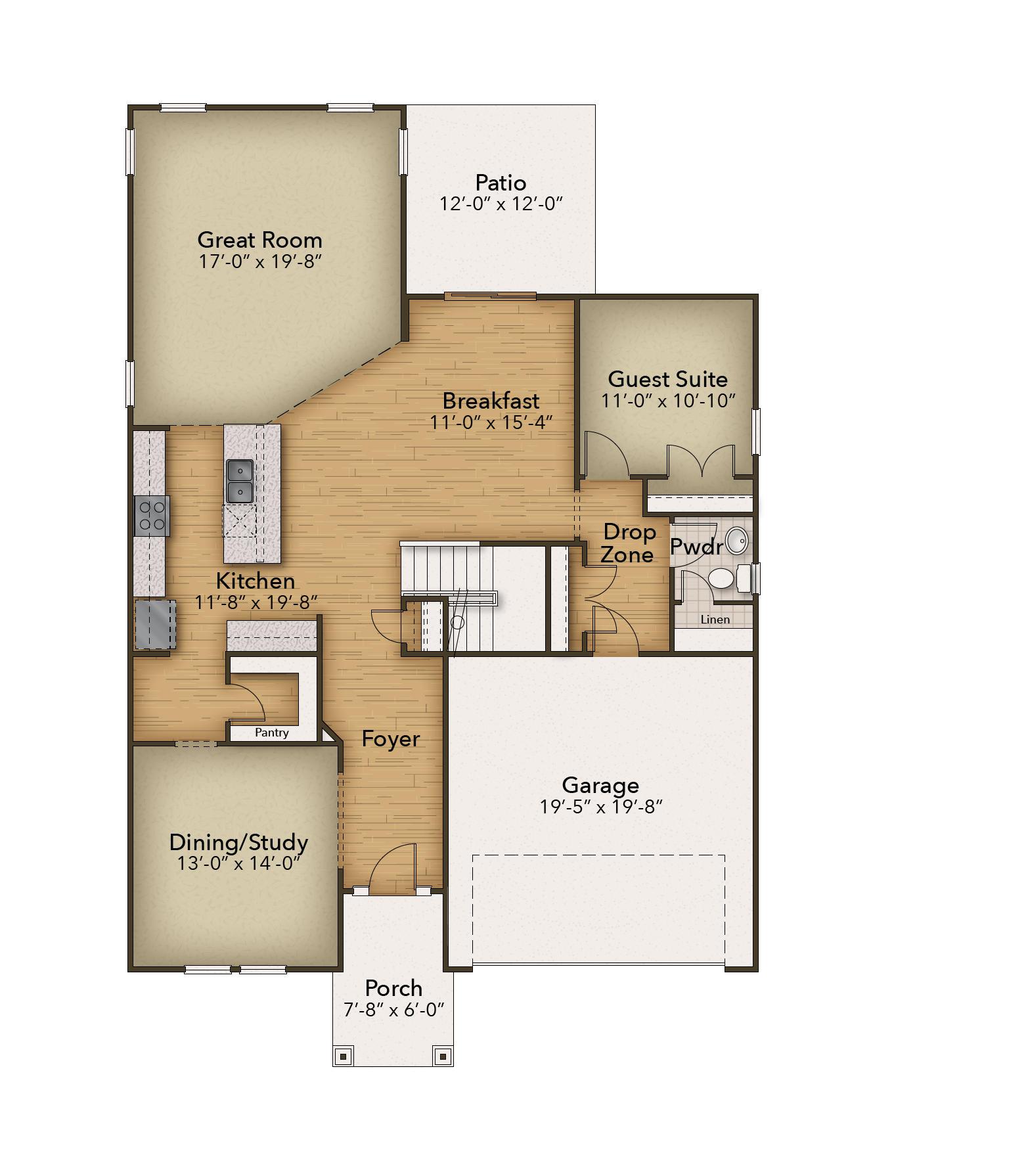 Chesapeake Homes -  The Mangrove First Floor