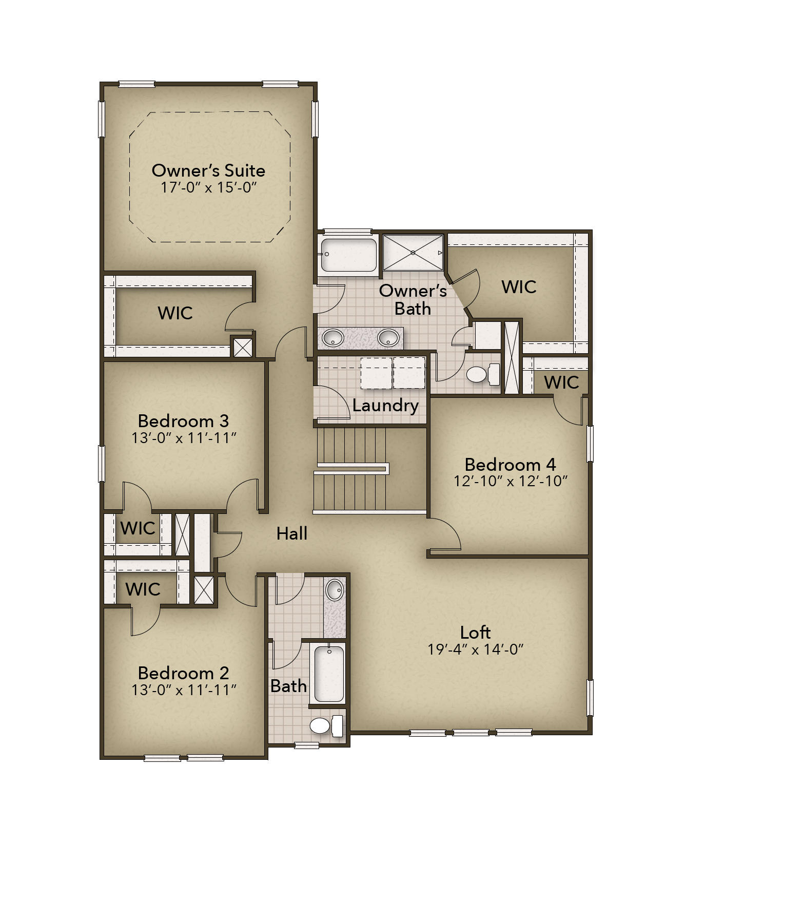 Chesapeake Homes -  The Mangrove Second Floor