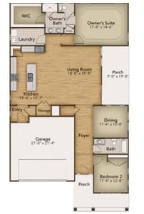 Chesapeake Homes -  The Sweet Escape Elevation A