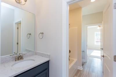 Chesapeake Homes -  The Lilac Upstairs Hall Bath