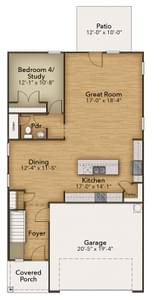 Chesapeake Homes -  The Holly First Floor