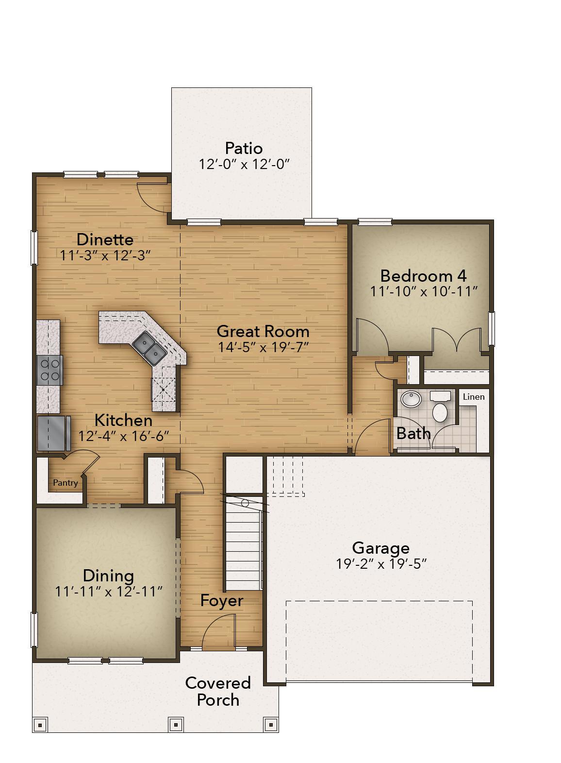 Chesapeake Homes -  The Waverunner First Floor