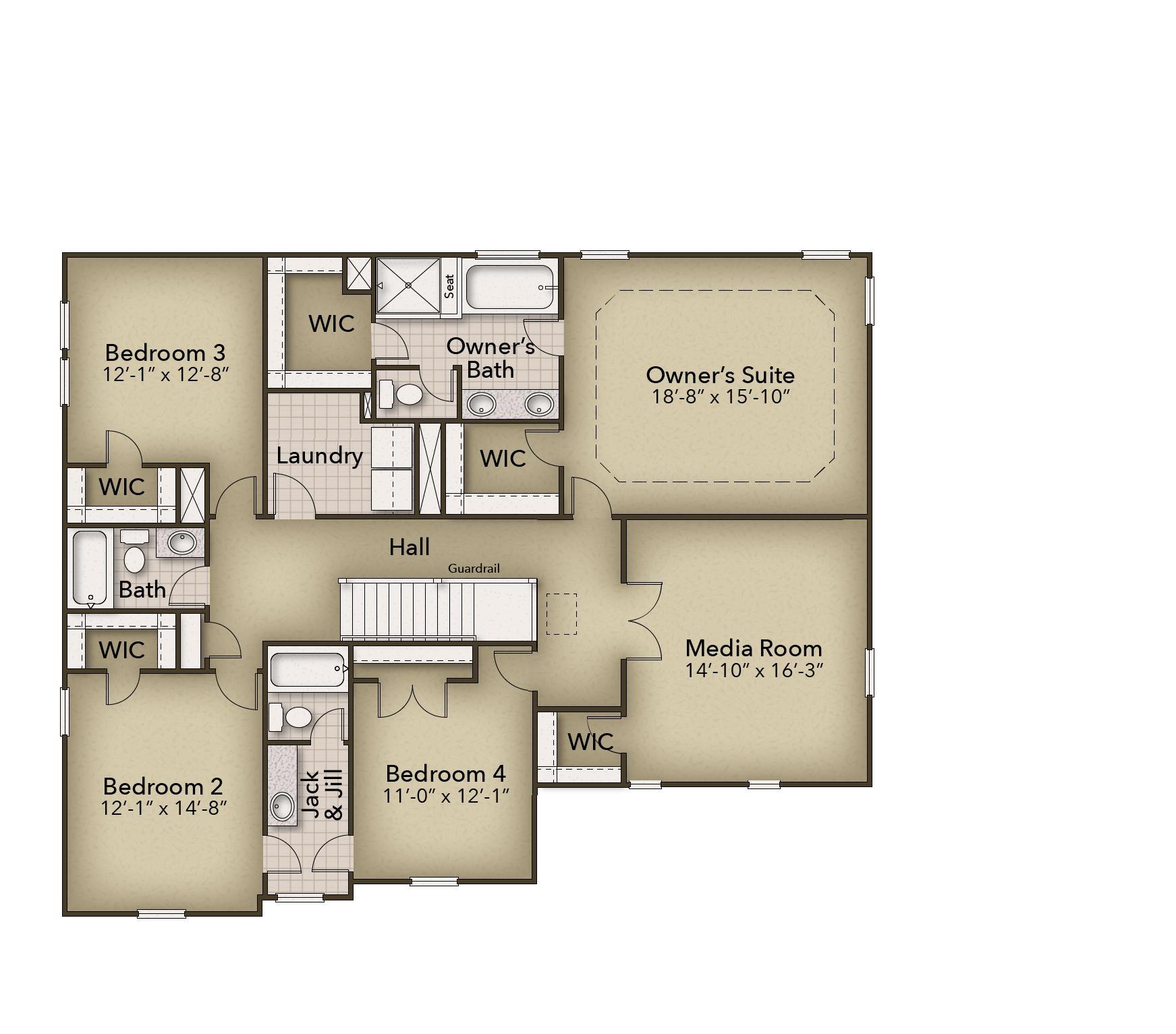 Chesapeake Homes -  167 Preserve Way, Suffolk, VA 23434 Second Floor