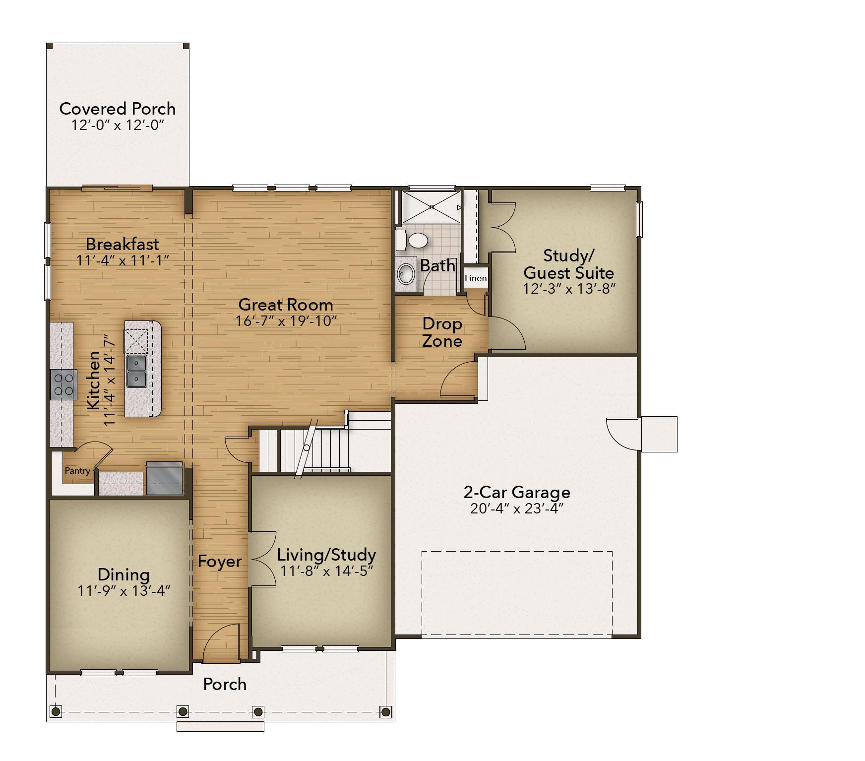 Chesapeake Homes -  167 Preserve Way, Suffolk, VA 23434 First Floor
