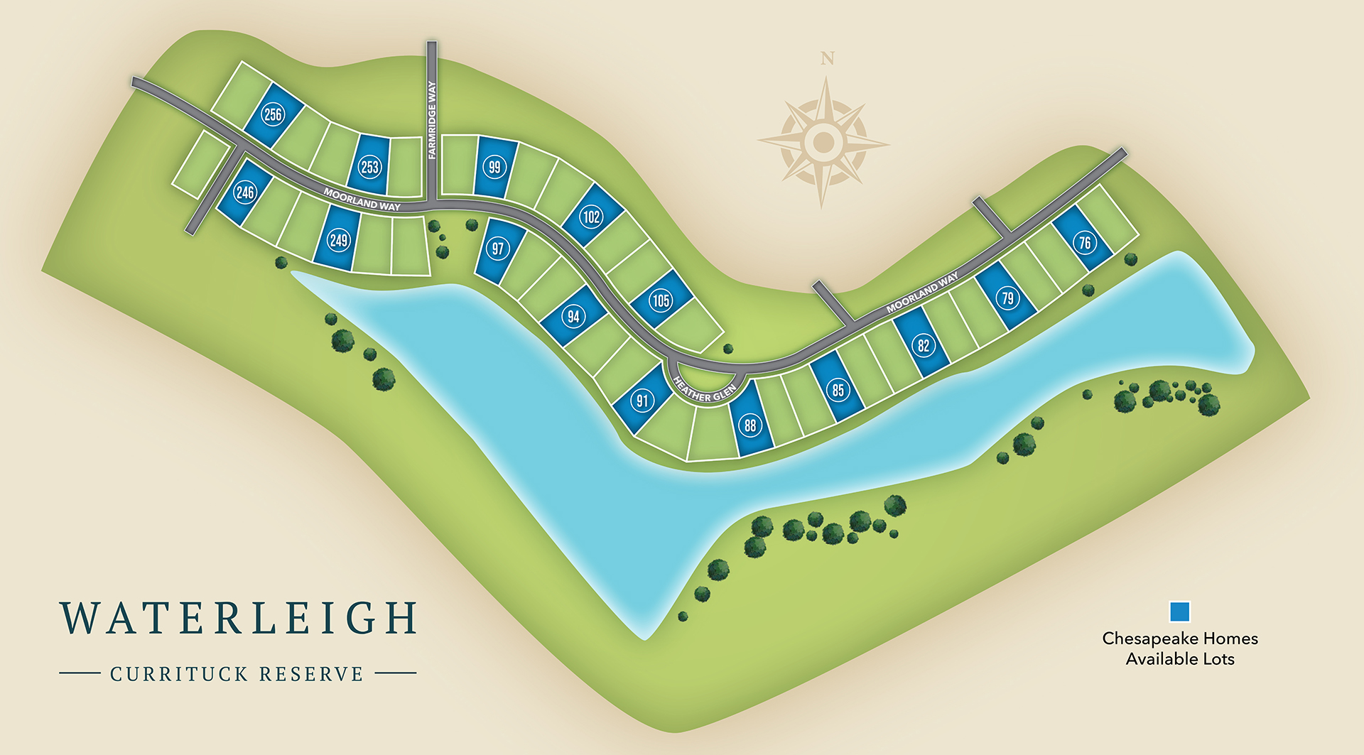 Moyock, NC Waterleigh New Homes from Chesapeake