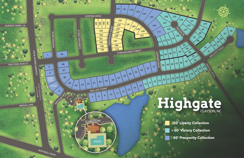 Clayton, NC Highgate New Homes from Chesapeake
