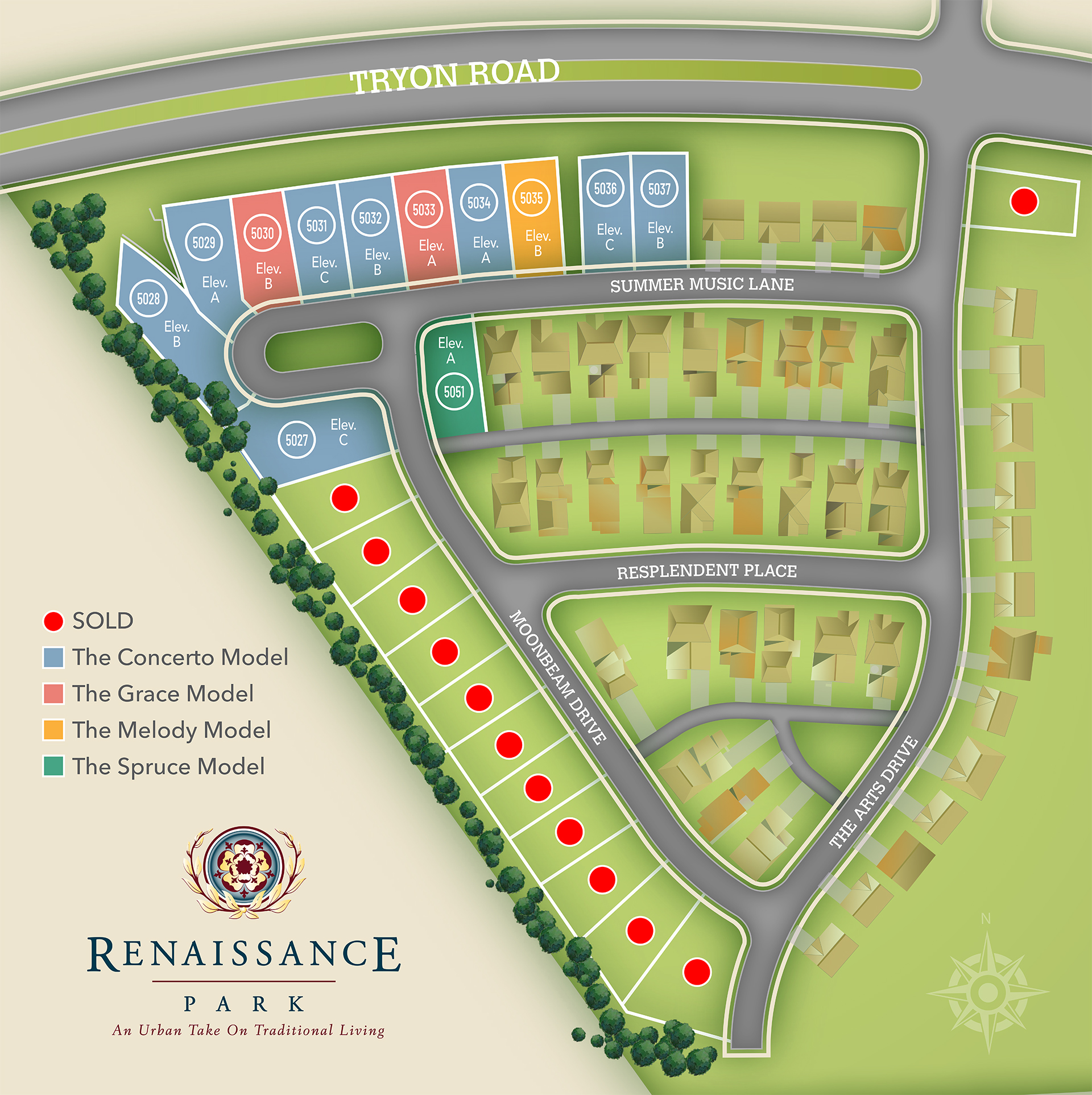 Raleigh, NC Renaissance Park New Homes from Chesapeake