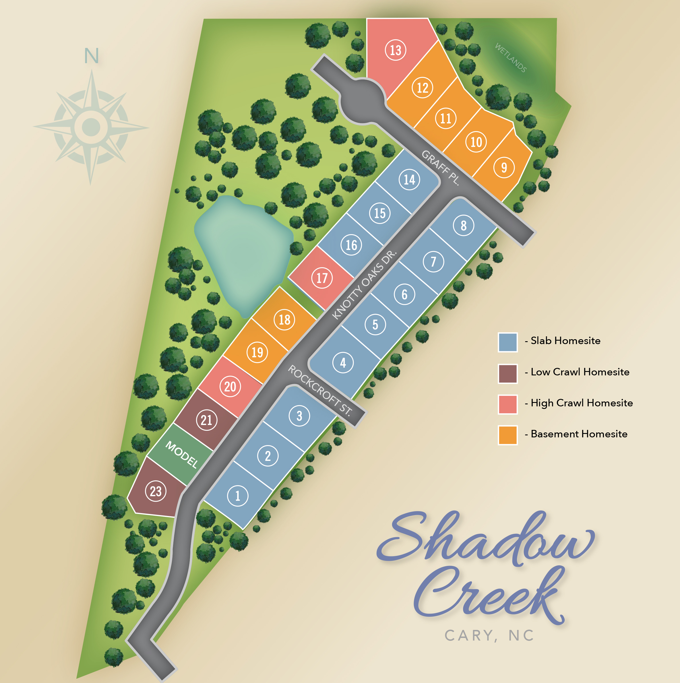 Cary, NC Shadow Creek New Homes from Chesapeake