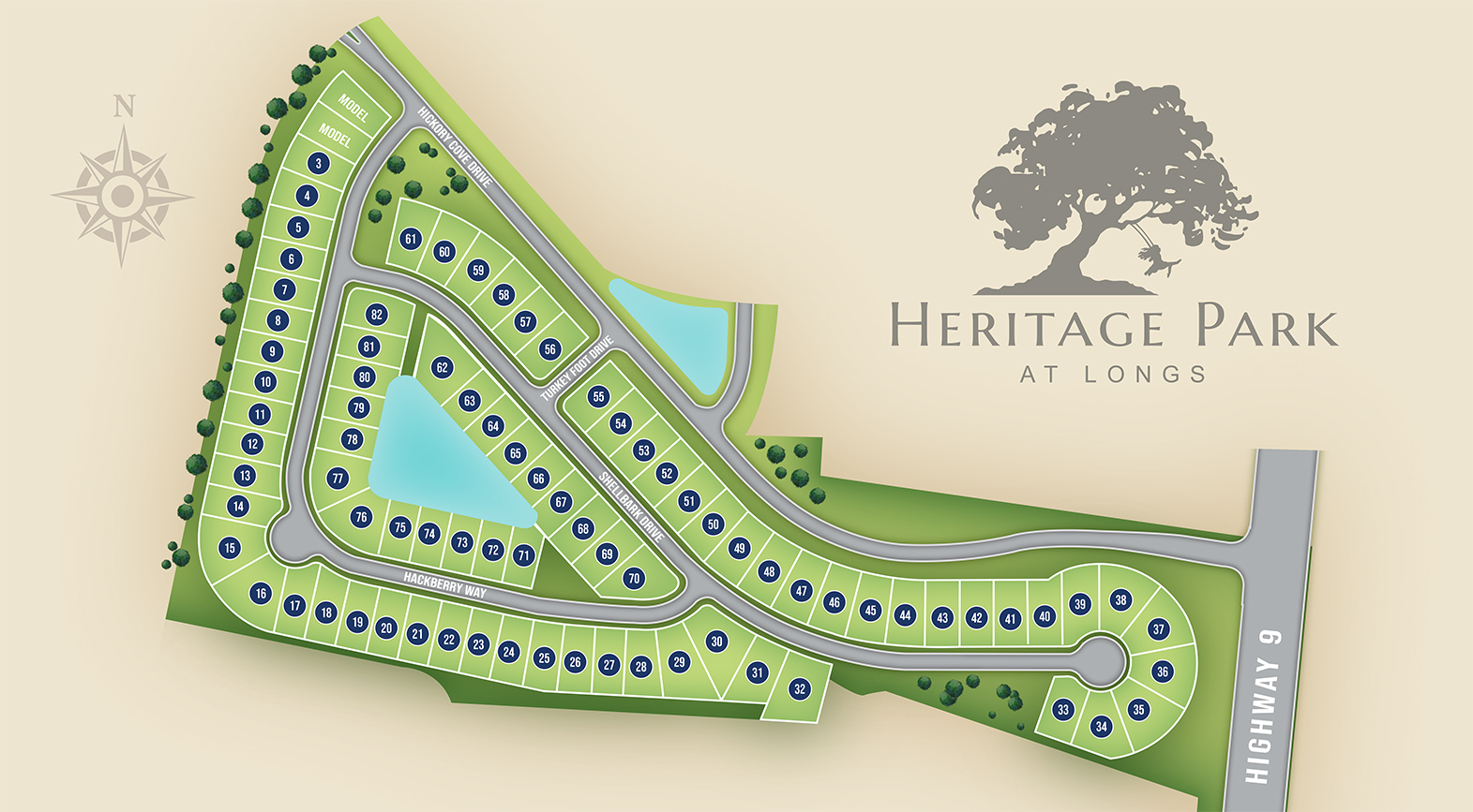 Longs, SC Heritage Park at Longs New Homes from Chesapeake