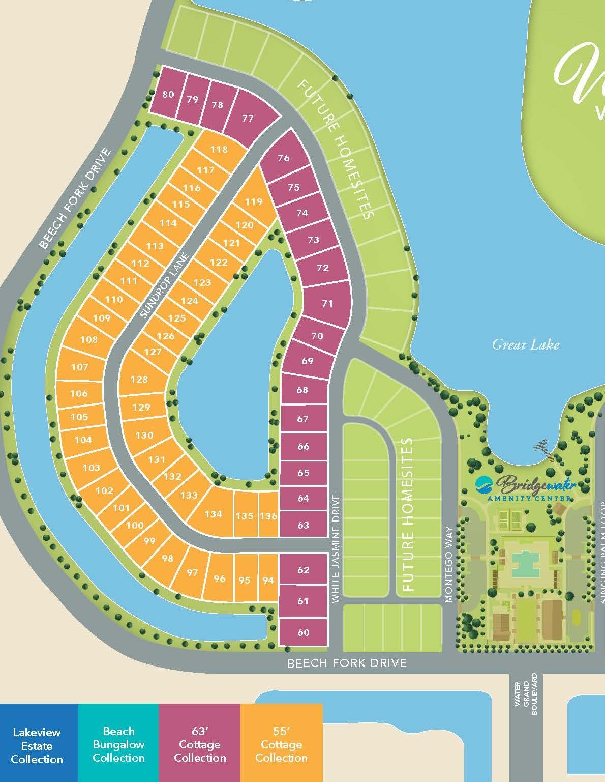 Little River, SC Bridgewater - Waterside Village Two New Homes from Chesapeake