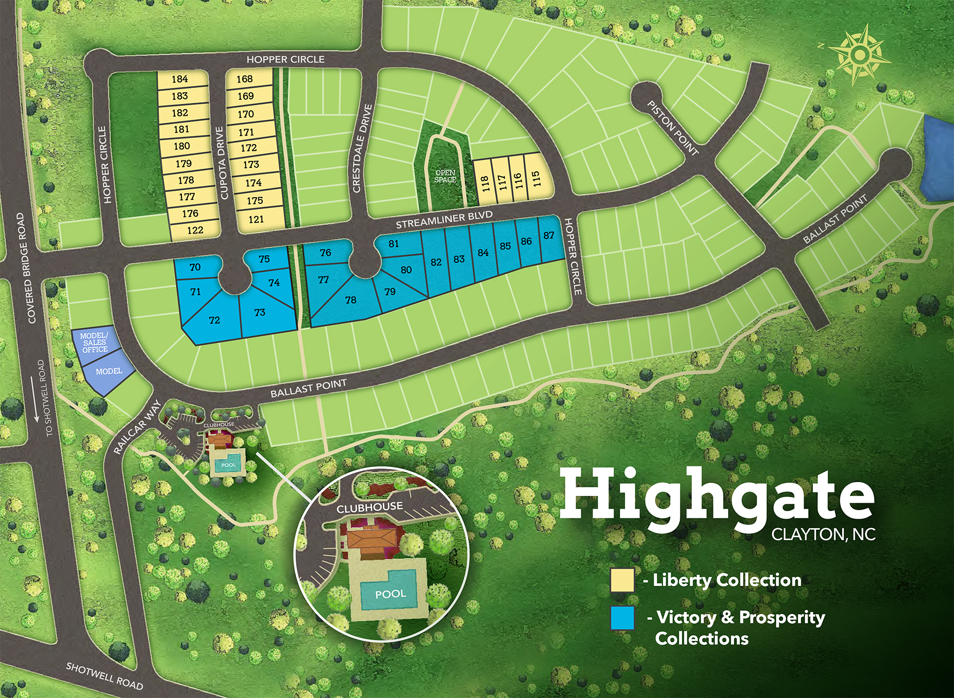 Clayton, NC Highgate New Homes from Chesapeake