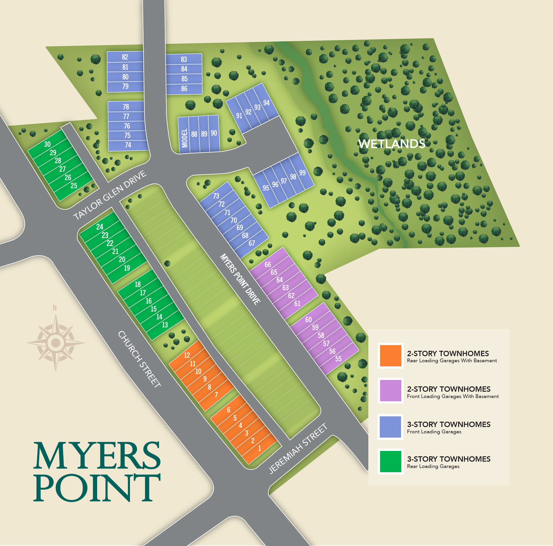 Morrisville, NC Myers Point New Homes from Chesapeake