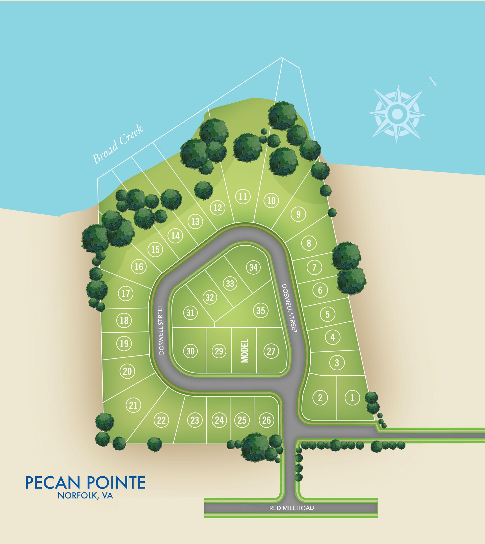 Norfolk, VA Pecan Pointe New Homes from Chesapeake